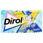 Жувальна гумка Dirol X-fresh свіжість чорниці та цитрусових 18г