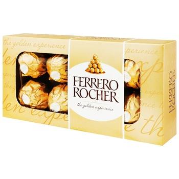 Цукерки вафельні Ferrero Rocher хрусткі 100г - купити, ціни на CітіМаркет - фото 1