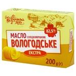 Масло вологодское Українська Зірка 82.5% 200г