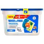 Капсулы для стирки Wash&Free универсальные с хозяйственным мылом 3в1 17шт