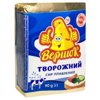 Сир плавлений Вершок 40% 90г Творожний