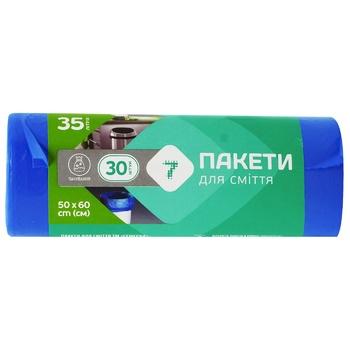 """Пакет для сміття """"7"""" 35л 30шт - купити, ціни на Таврія В - фото 2"""