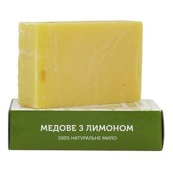 Мыло ЯКА Медовое с лимоном натуральное ручной работы 75г