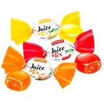 Цукерки Roshen Джус Мікс карамельні з фруктово-ягідною начинкою вагові
