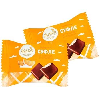 Цукерки Жако Суфле зі смаком апельсина вагові - купити, ціни на Ашан - фото 1
