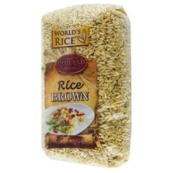 Рис World's Rice нешлифованный 500г