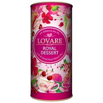 Чай каркаде Lovare Королевский десерт листовой 80г