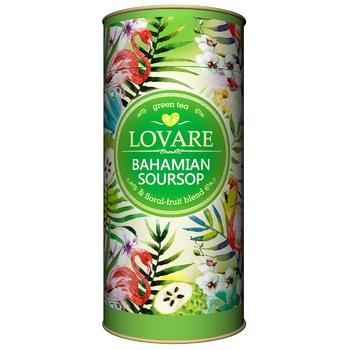 Чай зеленый Lovare Багамский саусеп листовой с ягодами и фруктами 80г