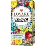 Чай Lovare Брызги Шампанского черный и зеленый листовой с ягодами и фруктами 24шт*2г