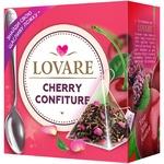 Чай Lovare Cherry Confiture смесь черного и зеленого в пирамидках 15*2г