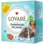 Чай Lovare Shampagne Splashes суміш чорного та зеленого в пірамідках 15*2г