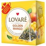 Чай зеленый Lovare Golden Mango листовой байховый в пирамидках 2г 15шт