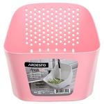 Миска з ситом Ardesto Fresh AR1601PP ліловий/рожевий
