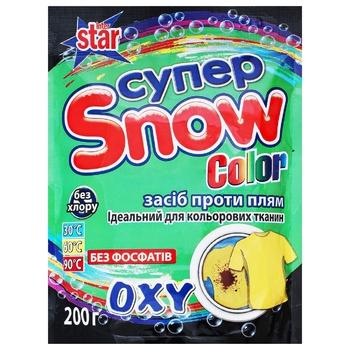 Средство против пятен Супер Snow Color 200г - купить, цены на Ашан - фото 1