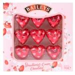 Цукерки Бейліз 90г сердечка з полунично-вершковою начинкою к/у