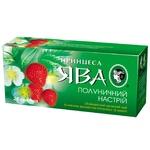 Green pekoe tea Princess Java Strawberry Mood with strawberry pieces 25х1.5g teabags Ukraine