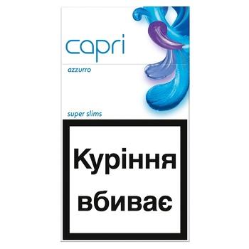 Сигареты Capri Azzurro - купить, цены на Ашан - фото 1
