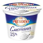 President Sour Cream 15% 180g