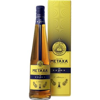Бренді Metaxa 5* 38% 0,7л - купити, ціни на Метро - фото 1