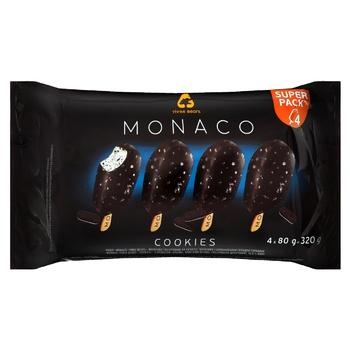 Набор мороженого Три медведя Монако Печенье глазированные 4шт*80г