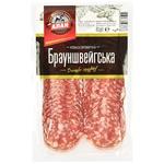 Колбаса Алан Брауншвейгская нарезка сырокопченая высшего сорта 80г