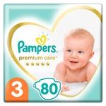 Подгузники Pampers Premium Care размер 3 6-10кг 80шт