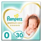 Подгузники Pampers Premium Care размер 0 Newborn <3кг 30шт