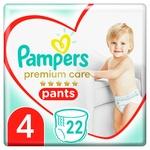 Подгузники-трусики Pampers Premium Care Pants  размер 4 Maxi 9-15кг 22шт