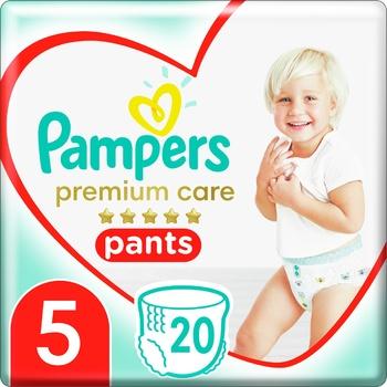 Pampers Premium Care Pants Size 5 Junior Diapers 12-17kg 20pcs