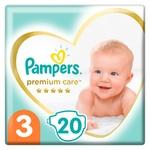 Pampers Premium Care Diapers Size 3 Midi 6-10kg 20pcs
