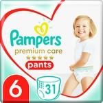 Трусики Pampers Premium Care 15+ кг 6 Extra large 31шт