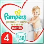 Подгузники-трусики Pampers Premium Care Pants размер 4 Maxi 9-15кг 58шт