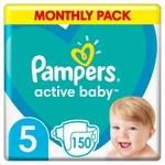 Подгузники Pampers Active Baby размер 5 Junior 11-16кг 150шт
