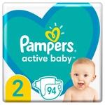 Подгузники Pampers Active Baby размер2 Mini 4-8кг 94шт