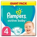 Подгузники Pampers Active Baby размер 4 Maxi 9-14кг 76шт