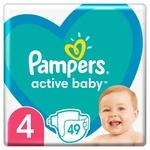Подгузники Pampers Active Baby размер 4 Maxi 9-14кг 49шт