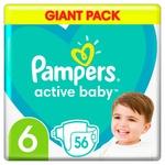 Подгузники Pampers Active Baby размер 6 Extra Large 13-18кг 56шт
