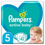 Pampers Active Baby Diapers Size 5 11-16kg 42pcs