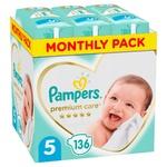 Подгузники Pampers Premium Care размер 5 Junior11-16кг 136шт