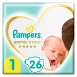 Pampers Premium Care Diapers Size 1 Newborn 2-5kg 26pcs