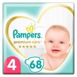 Подгузники Pampers Premium Care размер 4 Maxi 9-14кг 68шт
