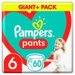 Подгузники трусики Pampers Pants 6 15+ кг 60шт