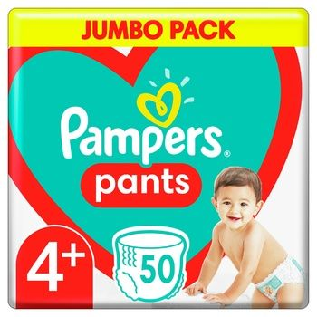 Pampers Pants Size 4+ Diapers 9-15kg 50pcs