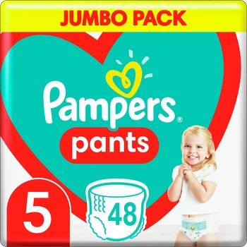 Подгузники-трусики Pampers Pants Размер 5 12-17кг 48шт