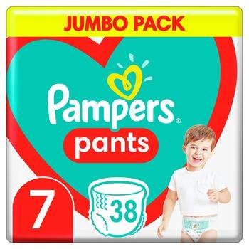 Подгузники-трусики Pampers Pants Размер 7 17+ кг 38шт