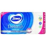 Туалетная бумага Zewa Deluxe Delicate Care белая 3-х слойная 8шт