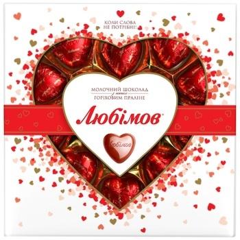 Lyubimov with nut praline milk chocolate candy 125g - buy, prices for CityMarket - photo 1