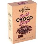 Шоколад Chocolatier черный в каплях 80г