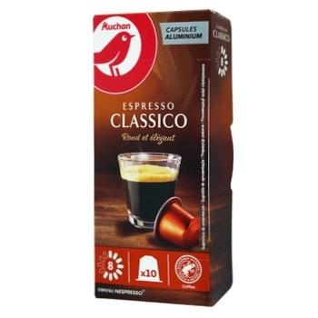 Кофе Ашан Espresso Classico в капсулах 10шт*5,2г
