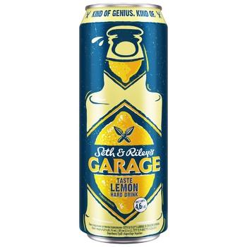 Пиво Seth & Riley's Garage Hard Lemon светлое 4,6% 0,5л - купить, цены на СитиМаркет - фото 1